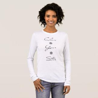 T-shirt blanc d'été avec la chasse votre message
