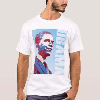 T-shirt Blanc d'Obama et bleu rouges