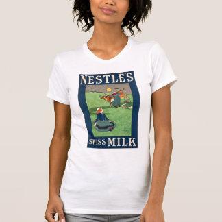 T-shirt Blanc du lait W suisse de Nestle
