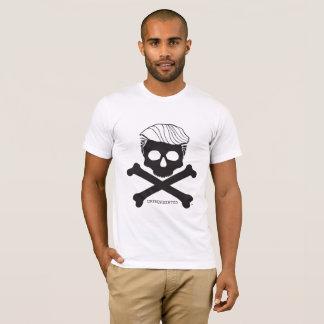 T-shirt Blanc du t des hommes avec le logo noir