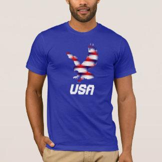T-shirt blanc et bleu rouge d'Eagle