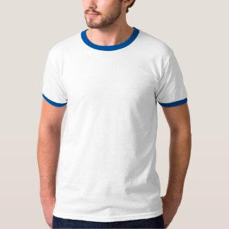 T-shirt blanc et bleu simple de sonnerie pour les