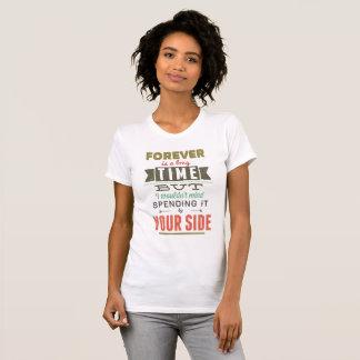 T-shirt Blanc Féminin Vintage Forever