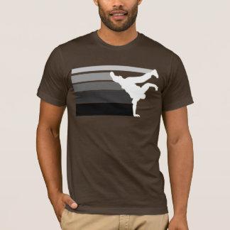 T-shirt Blanc gris de gradient de BBOY