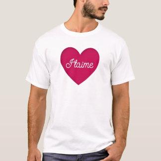 T-shirt blanc S M L XL 1X de Je taime de coeur
