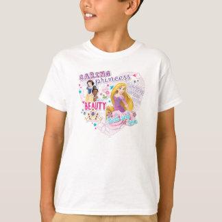 T-shirt Blanc, Tiana et Rapunzel de neige de la princesse
