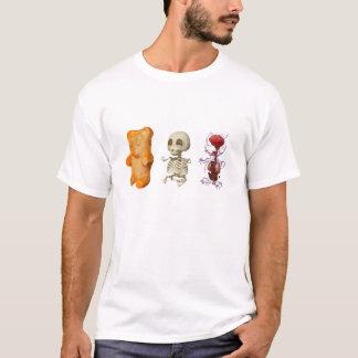 T-shirt BLANC tripsyque d'anatomie d'ours de Gummi