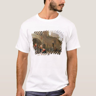 T-shirt Blanchisseuses par une fontaine romaine