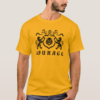 T-shirt Blason de lions de courage