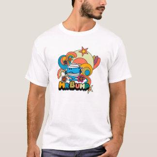 T-shirt Blessure psychédélique de pouce de M. Bump  