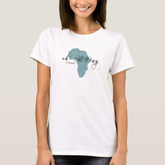 """T-shirt Bleu amharique éthiopien de """"maman"""" chemise"""