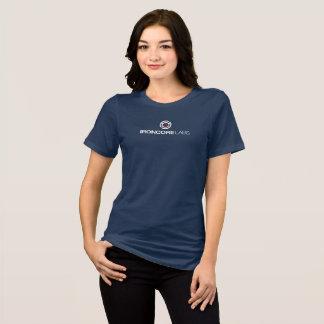 T-shirt Bleu avant de bella de dames de logo