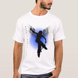 T-shirt Bleu chrétien de patineur