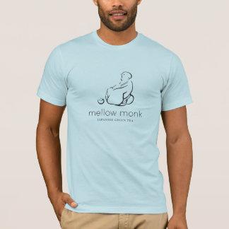 T-shirt bleu-clair avec le logo mûr de moine