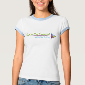 T-shirt bleu-clair de la sonnerie des femmes