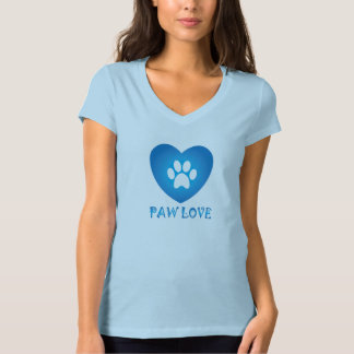 T-shirt Bleu d'amour de patte