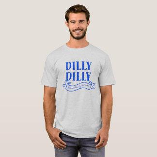 T-shirt bleu de bannière de Dilly Dilly