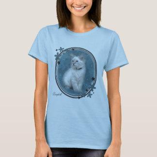 T-shirt bleu de chaton de ragdoll