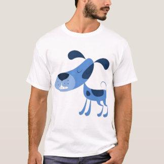 T-shirt bleu de Chien-Clic pour changer la taille