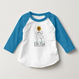 T-shirt Bleu de douille de l'enfant en bas âge 3/4 d'EVM