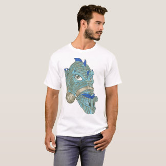 T-shirt bleu de dragon