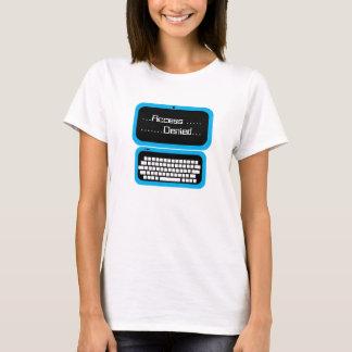 T-shirt bleu de geek d'ordinateur nié par accès