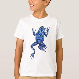 T-shirt bleu de grenouille de flèche de poison