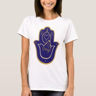 T-shirt Bleu de Hamsa de paix et d'amour de henné