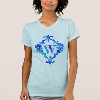 T-shirt Bleu de la lettre W