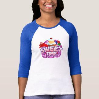 T-shirt bleu de la RaglanT-chemise des femmes