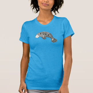 T-shirt Bleu de lamantin