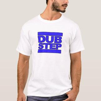 T-shirt Bleu de logo de DUBSTEP