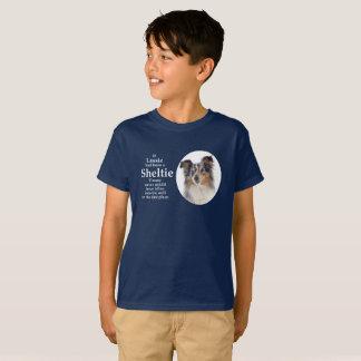 T-shirt bleu de Merle Sheltie de Timmy