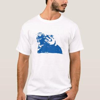 T-shirt Bleu de moto