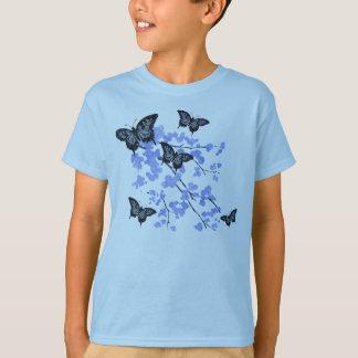 T-shirt bleu de papillon des jeunesse