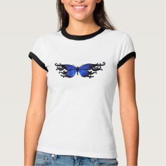T-shirt bleu de papillon personnalisable