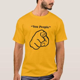 T-shirt Bleu de personnes d'U