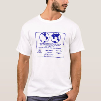 "T-shirt bleu ""de PLAQUE d'APOLLO"""