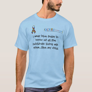 T-shirt bleu de sensibilisation sur l'autisme du