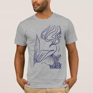 T-shirt Bleu de sirène