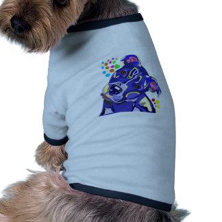 T-shirt bleu de sonnerie de chienchien de Terrier Manteau Pour Animal Domestique
