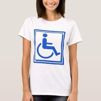T-shirt Bleu élégant handicapé de symbole