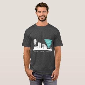 T-shirt Bleu et blanc de Knoxville d'Assemblée de dimanche