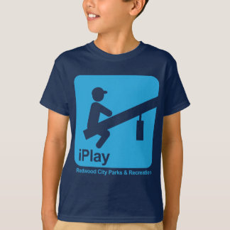 T-shirt bleu iPlay de garçon (transparent)