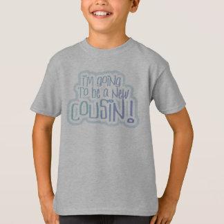 T-shirt Bleu je vais être un cousin