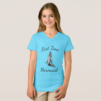 T-shirt bleu lumineux de sirène à temps partiel