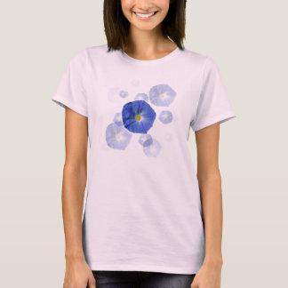 T-shirt bleu merveilleux de gloire de matin