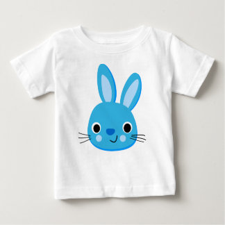 T-shirt bleu mignon de bébé de lapin