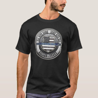 T-shirt Bleu mince commémoratif de police de Dallas