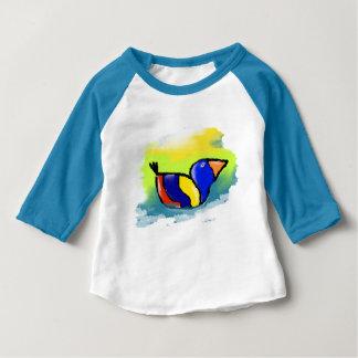 """T-shirt bleu pour bébé, manches raglan, """"Canard"""""""
